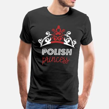 Polish Nationality Polish Princess Tiara National Flag T-Shirt - Men's Premium T-Shirt
