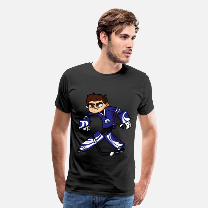 Hockey T-Shirts - Dorsal Finn Goalie T-Shirt - Men's Premium T-Shirt black