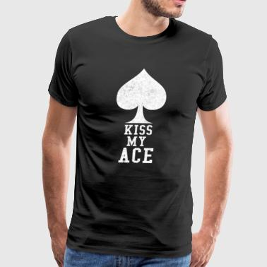 Roulette Casino Kiss My Ace Poker Pun Gift - Men's Premium T-Shirt