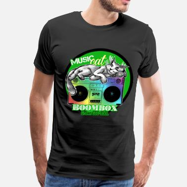 Ghetto Blaster Boombox Crown CSC 850L with Music Cat Ghettoblaste - Men's Premium T-Shirt