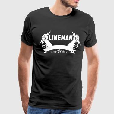 lineman lineman barn i love my lineman football  - Men's Premium T-Shirt