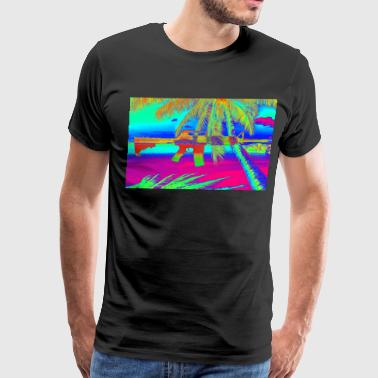 Psychedelic beach rifle - Men's Premium T-Shirt