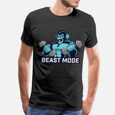 Unleash Your Inner Beast  monkey - Men's Premium T-Shirt