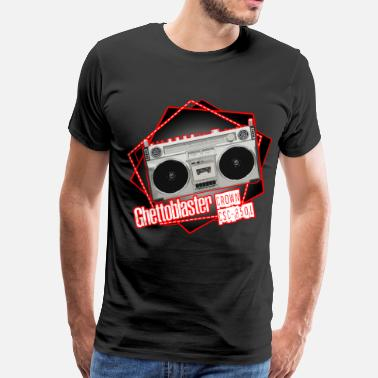 Ghetto Blaster Boombox Crown CSC 850L Pentagon Ghettoblaster - Men's Premium T-Shirt