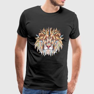 Ethnic Tribal Lion - Men's Premium T-Shirt