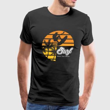 Surf ride the wave - Men's Premium T-Shirt