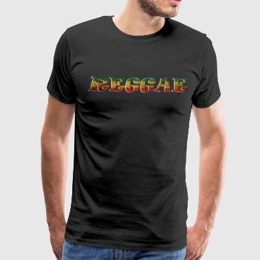 Jamaica Quotes Reggae jamaica flag present - Men's Premium T-Shirt