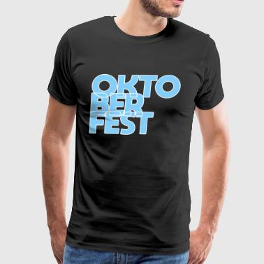 OKTOBERFEST font blue white - Men's Premium T-Shirt