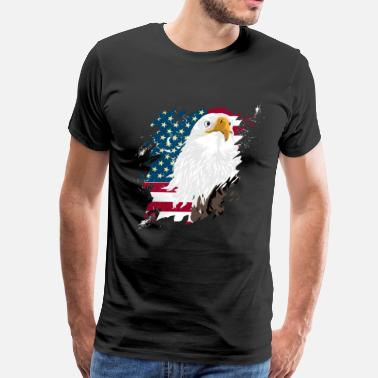 Los Angeles Flag American First - Men's Premium T-Shirt