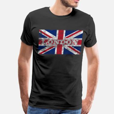 London Aged London Flag - Men's Premium T-Shirt