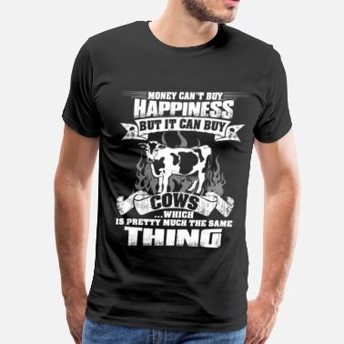 Cows farmer, cows make happy farmer funny - Men's Premium T-Shirt