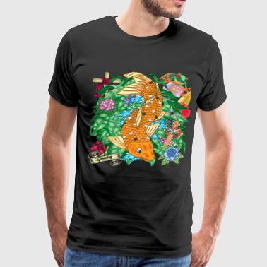 Greenboy Koi Tattoo - Men's Premium T-Shirt