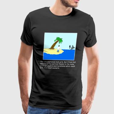 Desert Island Joke (dark) - Men's Premium T-Shirt