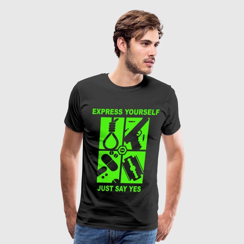 just say yes - Men's Premium T-Shirt