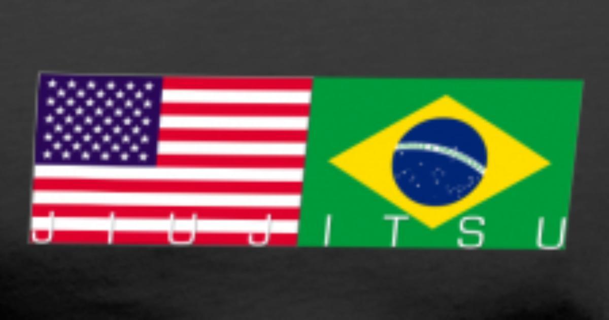Jiujitsu with USA and Brazil Flag by jiujitsucentral ...