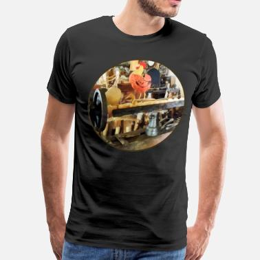 Woodshop Lathe in Wood Shop - Men's Premium T-Shirt