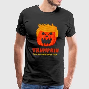Make Halloween Great Again Halloween trumpkin make halloween great again - Men's Premium T-Shirt