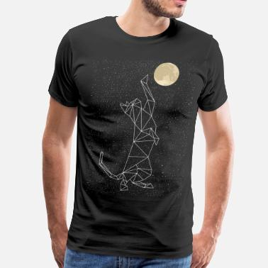 Cat Lover Cat Constellation Reaching For Moon - Men's Premium T-Shirt