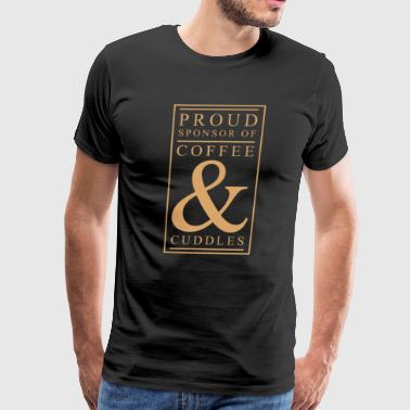 Coffee and Cuddles Graphic T-shirt - Men's Premium T-Shirt