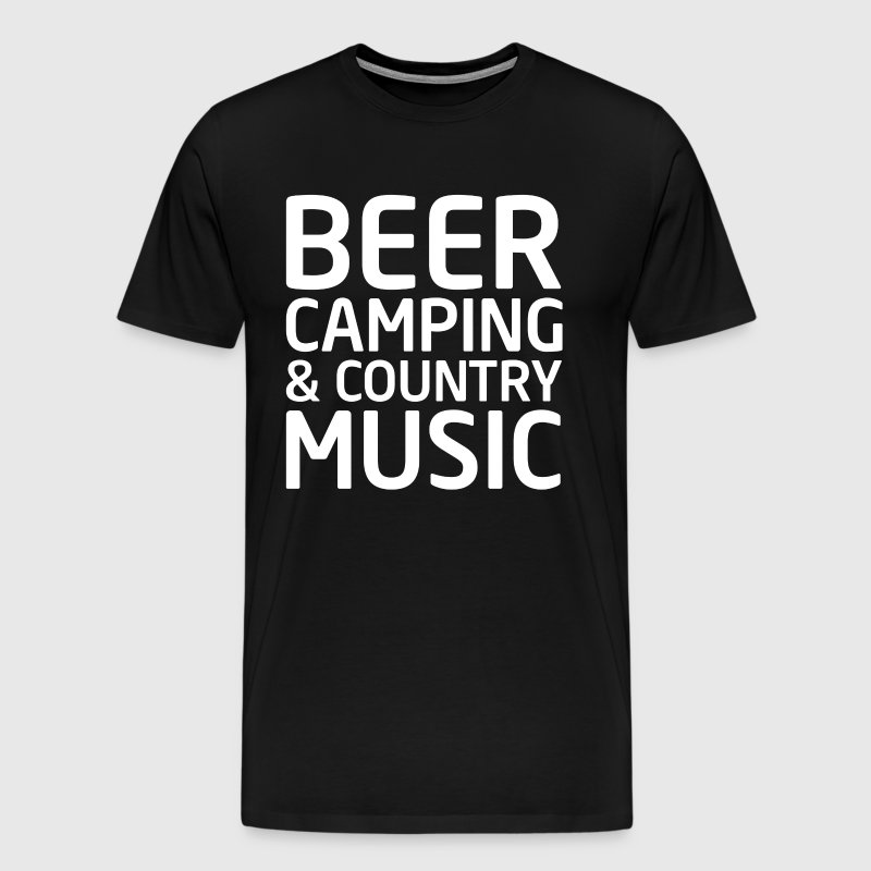 Beer, Camping, and Country Music Outdoors T-shirt - Men's Premium T-Shirt