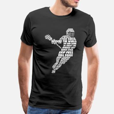 Funny Lacrosse Men's Lacrosse Figure Funny Graphic T-shirt - Men's Premium T-Shirt