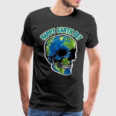 Happy Earth Day Skull T Shirt - Men's Premium T-Shirt