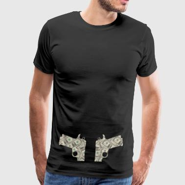 guns double - Men's Premium T-Shirt