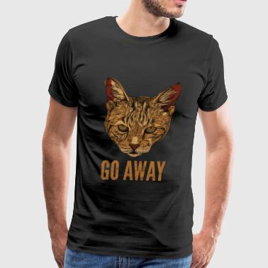 CAT GO AWAY - Men's Premium T-Shirt