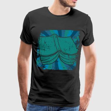 Student reading - Men's Premium T-Shirt