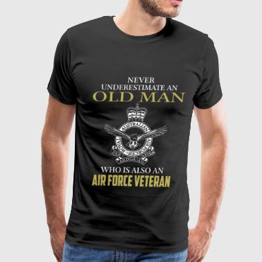 Air force veteran - Never underestimate - Men's Premium T-Shirt