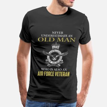 Air Force Deployment Air force veteran - Never underestimate - Men's Premium T-Shirt