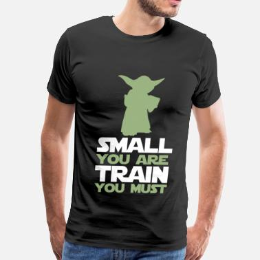Yoda Darth Vader Funny Dj Headphones Swag Yoda Star Wars - Small you are, train you must - Men's Premium T-Shirt