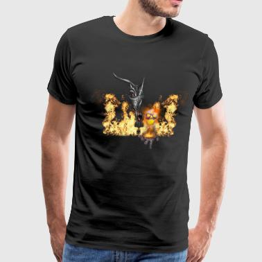 dragon with skull - Men's Premium T-Shirt