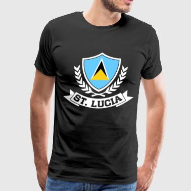 St. Lucia - Men's Premium T-Shirt