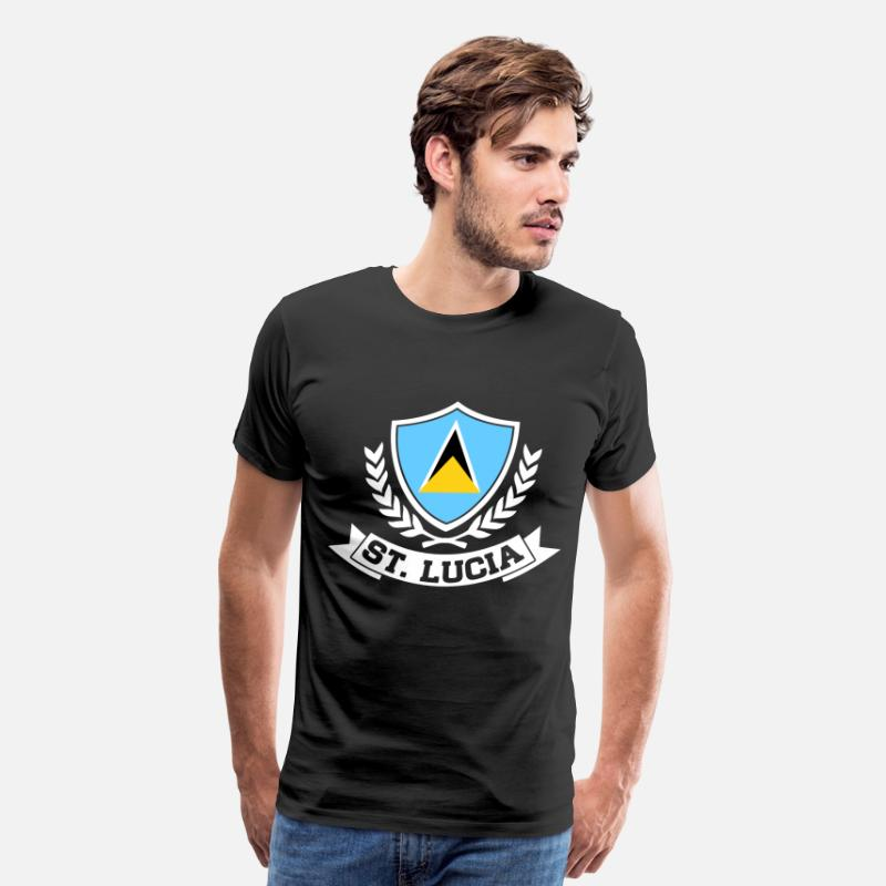 Lucia T-Shirts - St. Lucia - Men's Premium T-Shirt black