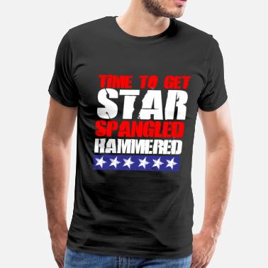 Spangle Star Spangled Hammered - Men's Premium T-Shirt