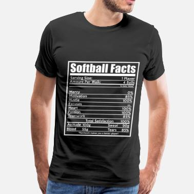 Pitcher Catcher Softball facts - Hustle, heart, passion, attitude - Men's Premium T-Shirt
