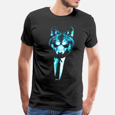 Wolf Suit And Tie Super Chill Ice Wolf - Men's Premium T-Shirt