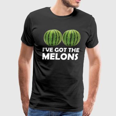 Crude Joke I Have Got the Melons Graphic Funny T-shirt - Men's Premium T-Shirt