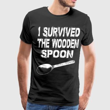 i survived wooden spoon b - Men's Premium T-Shirt