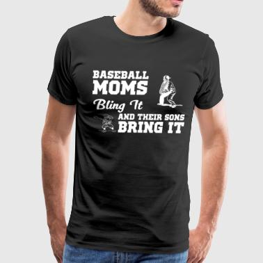 256 BASEBALL MOMS 2-01 - Men's Premium T-Shirt