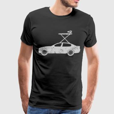 Extreme Ironing on a Car Funny Sports T-Shirt - Men's Premium T-Shirt