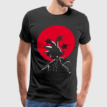 Red Ball Silhouette Goku - Men's Premium T-Shirt