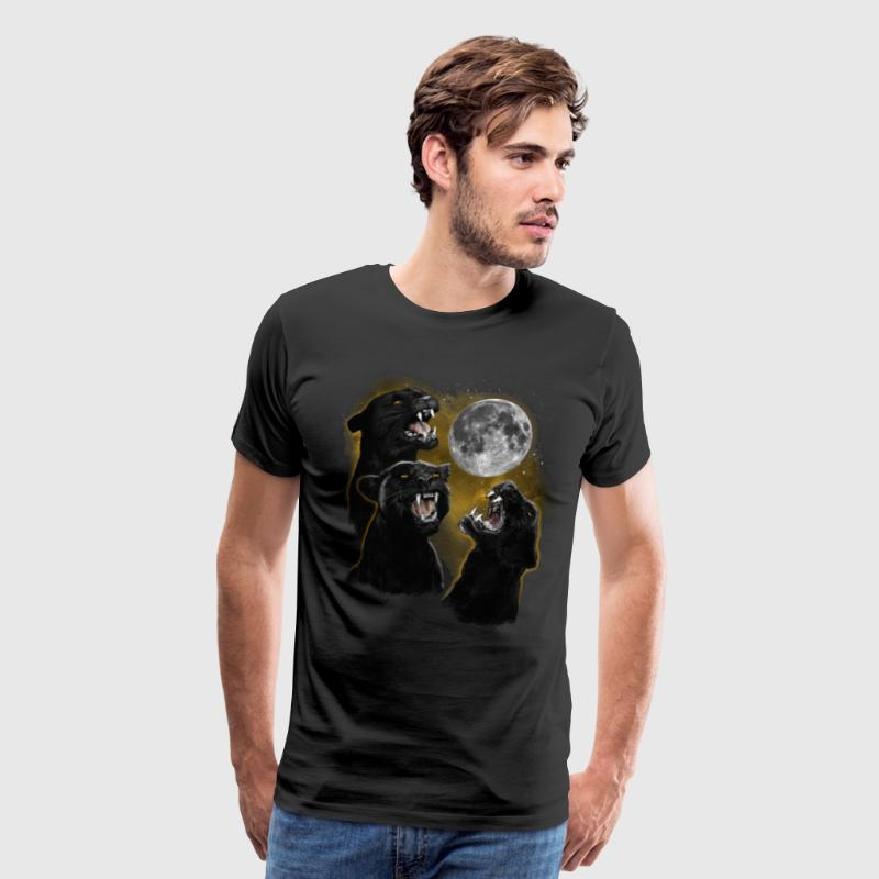 3 PANTHER MOON - Men's Premium T-Shirt