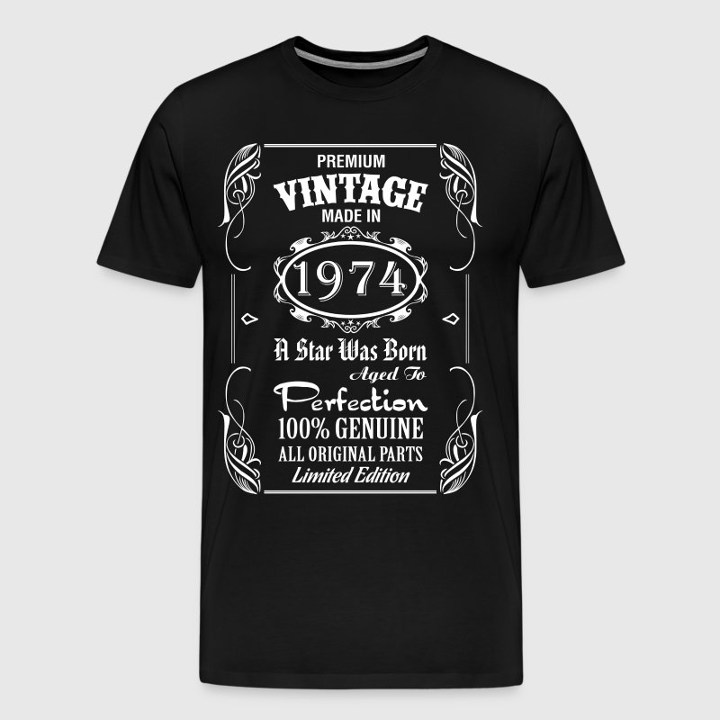 Premium Vintage Made In 1974 - Men's Premium T-Shirt