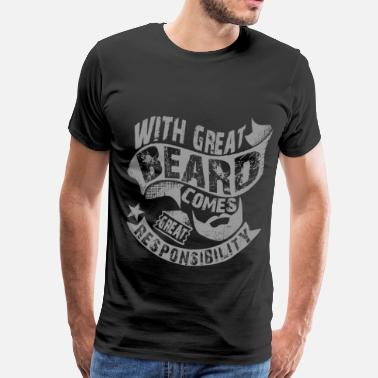 Bearded Man Quotes Man With Beard Quotes - Men's Premium T-Shirt