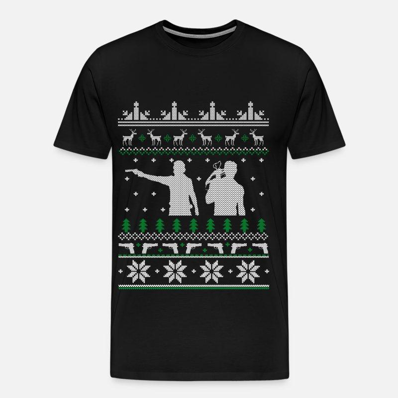 742578b86 Men's Premium T-ShirtThe walking dead - The walking dead xmas sweater