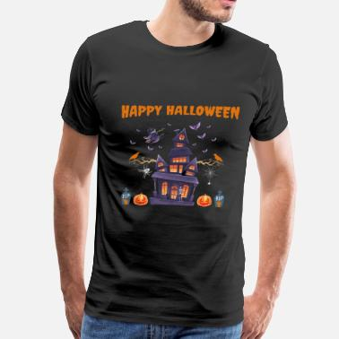 Haunted Castle Happy Halloween - Men's Premium T-Shirt