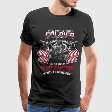 american Soldier - Men's Premium T-Shirt