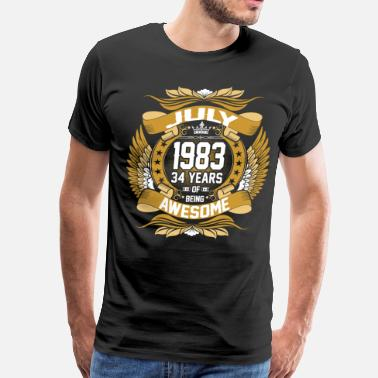 Est July 1983 34 Years Of Being Awesome - Men's Premium T-Shirt